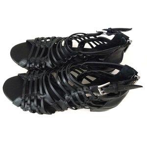 BCBGENERATION Black Ralston Strappy Sandals 8M